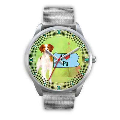 Lovely Brittany Dog Christmas Pennsylvania Christmas Special Wrist Watch-Free Shipping - Deruj.com