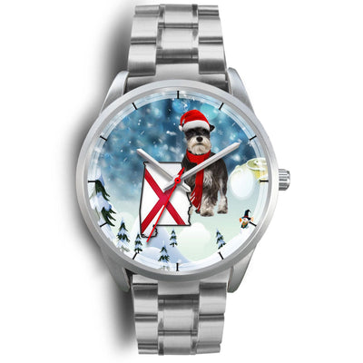 Miniature Schnauzer Alabama Christmas Special Wrist Watch-Free Shipping - Deruj.com