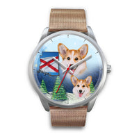 Pembroke Welsh Corgi Arizona Christmas Wrist Watch-Free Shipping - Deruj.com