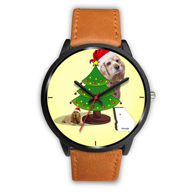Cocker Spaniel Georgia Christmas Special Wrist Watch-Free Shipping