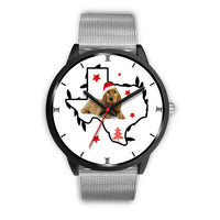 Cocker Spaniel Texas Christmas Special Wrist Watch-Free Shipping - Deruj.com