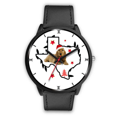 Cocker Spaniel Texas Christmas Special Wrist Watch-Free Shipping