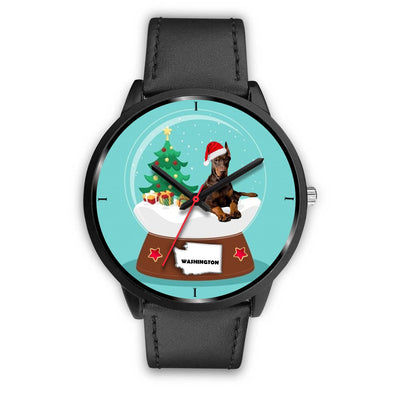 Doberman Pinscher Washington Christmas Special Wrist Watch-Free Shipping - Deruj.com