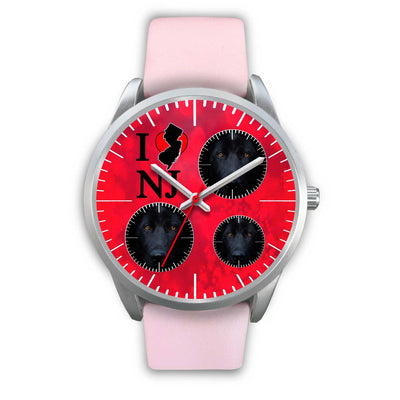 German Shepherd On Red New Jersey Christmas Special Wrist Watch-Free Shipping - Deruj.com
