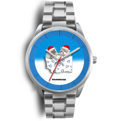 Ragdoll Cat Washington Christmas Special Wrist Watch-Free Shipping