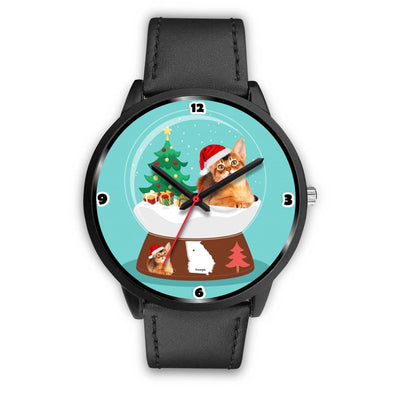 Abyssinian Cat Georgia Christmas Special Wrist Watch-Free Shipping - Deruj.com
