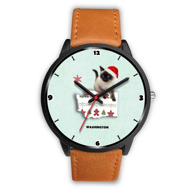 Birman Cat Washington Christmas Special Wrist Watch-Free Shipping - Deruj.com
