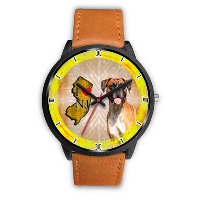 Boxer Dog New Jersey Christmas Special Wrist Watch-Free Shipping - Deruj.com