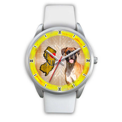 Amazing Boxer Dog New Jersey Christmas Special Wrist Watch-Free Shipping - Deruj.com