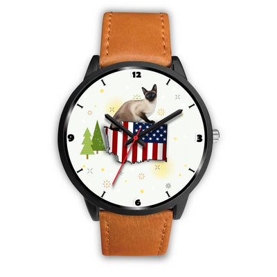 Burmese Cat Washington Christmas Special Wrist Watch-Free Shipping - Deruj.com