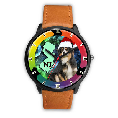 Australian Shepherd Dog New Jersey Christmas Special Wrist Watch-Free Shipping - Deruj.com