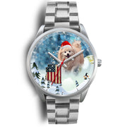 Pomeranian Dog Arizona Christmas Special Wrist Watch-Free Shipping - Deruj.com