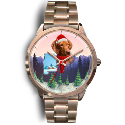 Cute Vizsla Alabama Christmas Special Wrist Watch-Free Shipping - Deruj.com