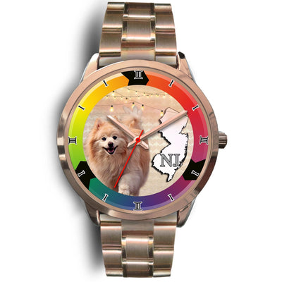 Pomeranian Dog New Jersey Christmas Special Wrist Watch-Free Shipping - Deruj.com