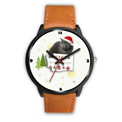 Chartreux Cat Washington Christmas Special Wrist Watch-Free Shipping - Deruj.com