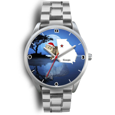 Manx Cat Georgia Christmas Special Wrist Watch-Free Shipping