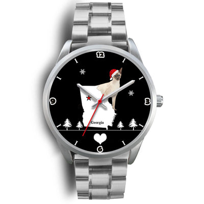 Balinese Cat Georgia Christmas Special Wrist Watch-Free Shipping - Deruj.com