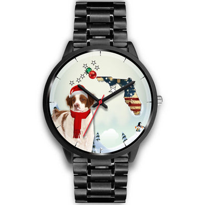 Brittany Dog Florida Christmas Special Wrist Watch-Free Shipping - Deruj.com