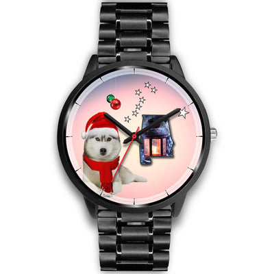 Cute Siberian Husky Alabama Christmas Special Wrist Watch-Free Shipping - Deruj.com