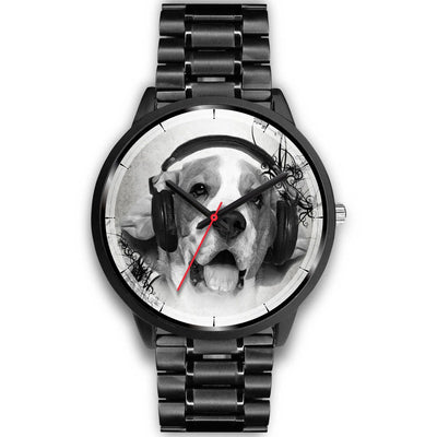 Beagle With Headphone Christmas Special Wrist Watch-Free Shipping - Deruj.com