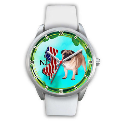 Graceful Pug Dog New Jersey Christmas Special Wrist Watch-Free Shipping