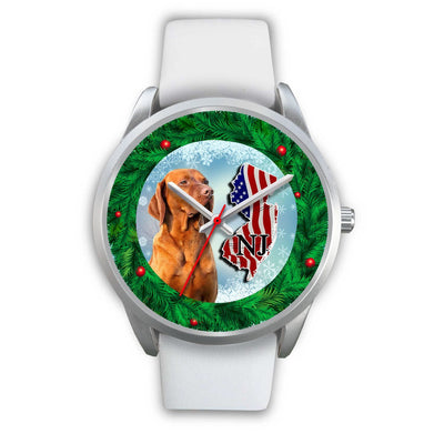 Lovely Vizsla Dog New Jersey Christmas Special Wrist Watch-Free Shipping - Deruj.com