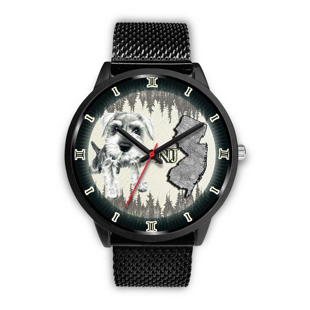 Miniature Schnauzer Dog Sketch New Jersey Christmas Special Wrist Watch-Free Shipping - Deruj.com