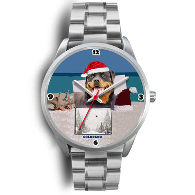 Rottweiler Dog Colorado Christmas Special Wrist Watch-Free Shipping