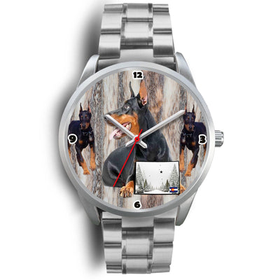 Doberman Pinscher Colorado Christmas Special Wrist Watch-Free Shipping - Deruj.com