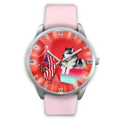 Cute Alaskan Malamute Dog New Jersey Christmas Special Wrist Watch-Free Shipping - Deruj.com