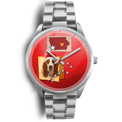 Basset Hound Iowa Christmas Special Wrist Watch-Free Shipping