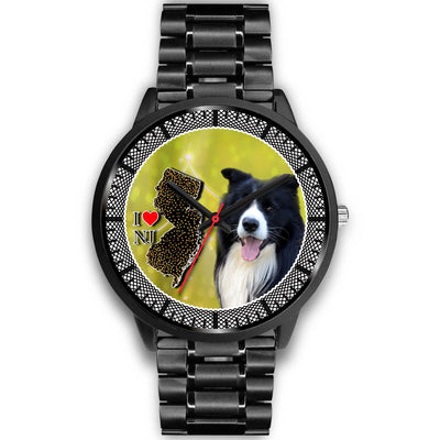 Border Collie Dog New Jersey Christmas Special Wrist Watch-Free Shipping
