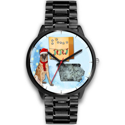 Belgian Malinois Dog Iowa Christmas Special Wrist Watch-Free Shipping - Deruj.com