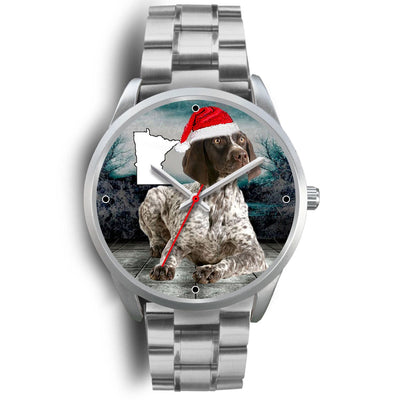 German Shorthaired Pointer Minnesota Christmas Special Wrist Watch-Free Shipping - Deruj.com