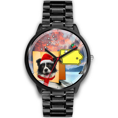 Border Collie Iowa Christmas Special Wrist Watch-Free Shipping - Deruj.com