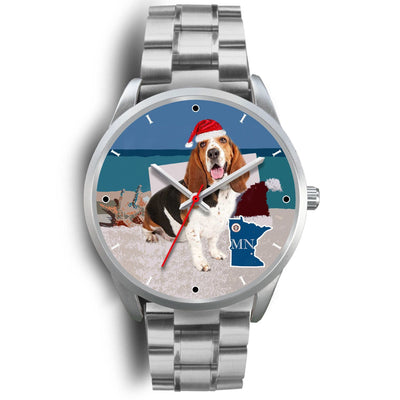 Basset Hound Minnesota Christmas Special Wrist Watch-Free Shipping