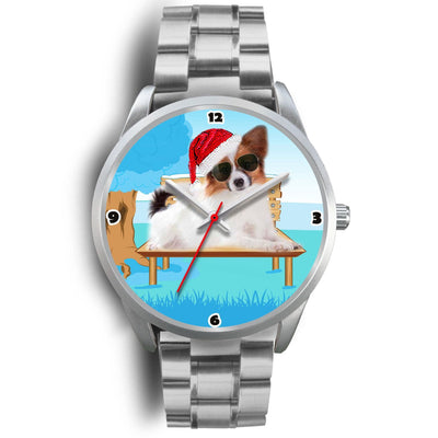 Papillon Dog Christmas Special Wrist Watch-Free Shipping - Deruj.com