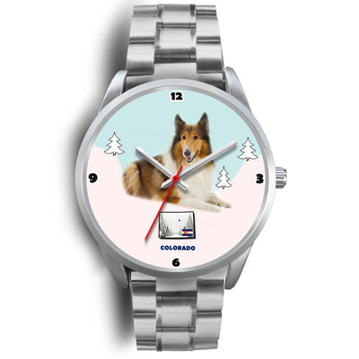 Rough Collie Colorado Christmas Special Wrist Watch-Free Shipping