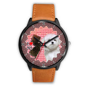 Cute Maltese Dog New Jersey Christmas Special Wrist Watch-Free Shipping - Deruj.com