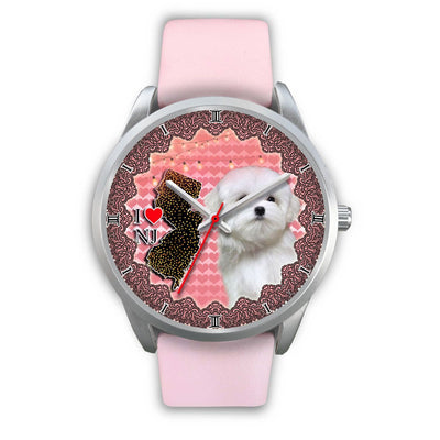 Lovely Maltese Dog New Jersey Christmas Special Wrist Watch-Free Shipping - Deruj.com
