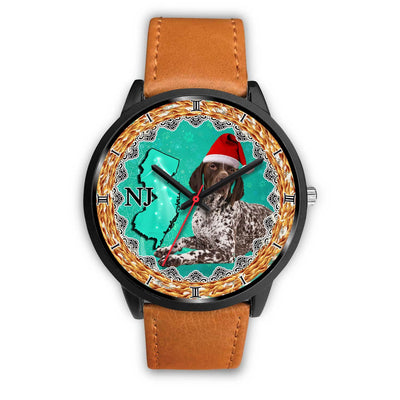German Shorthaired Pointer Dog New Jersey Christmas Special Wrist Watch-Free Shipping - Deruj.com