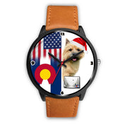Norwich Terrier Colorado Christmas Special Wrist Watch-Free Shipping - Deruj.com