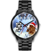 Cavalier King Charles Spaniel Indiana Christmas Special Wrist Watch-Free Shipping