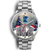 Russian Blue Cat Minnesota Christmas Special Wrist Watch-Free Shipping - Deruj.com