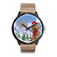 Cocker Spaniel Iowa Christmas Special Wrist Watch-Free Shipping - Deruj.com