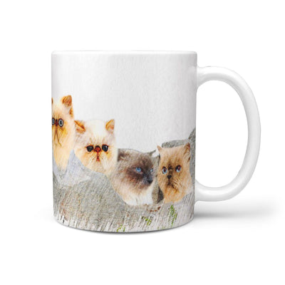 Himalayan Cat Color Sketch Mount Rushmore Print 360 Mug - Deruj.com