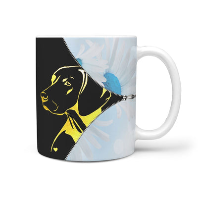 Vizsla Dog Golden Art Print 360 Mug - Deruj.com