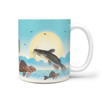 Sucker-Mouth Catfish Print 360 White Mug