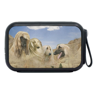 Afghan Hound On Mount Rushmore Print Bluetooth Speaker - Deruj.com
