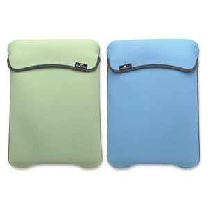 Reversible Notebook Sleeve Fits Most Widescreens Up to 12.1 Green and Baby Blue